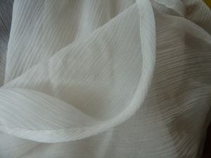 hand stitched crinkle silk
