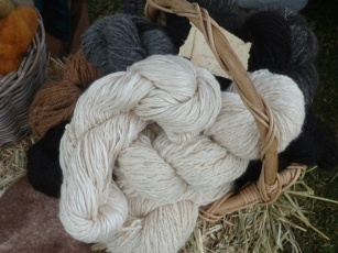 silk and alpaca hanks