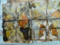 stitched paper